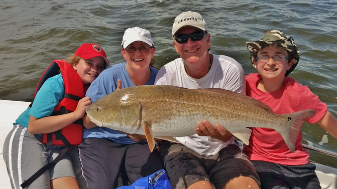 Michele Catches a Monster Redfish