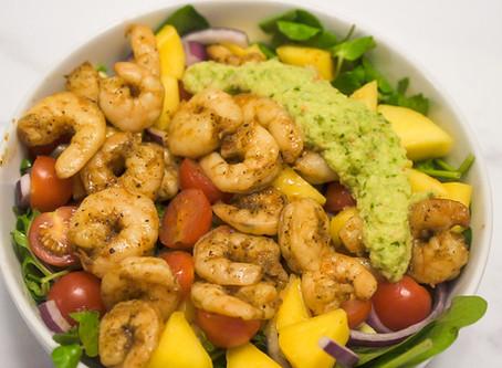 Char Bell Prawn and Mango Salad