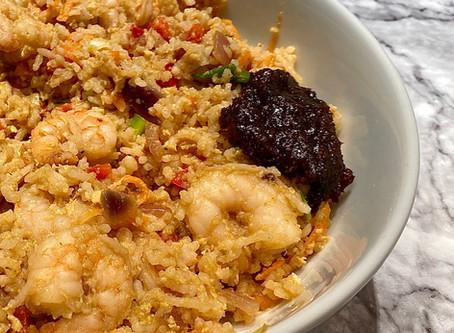 Spicy King prawn fried rice