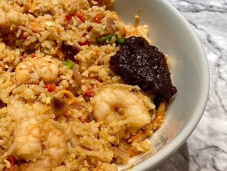 Spicy King prawn fried rice