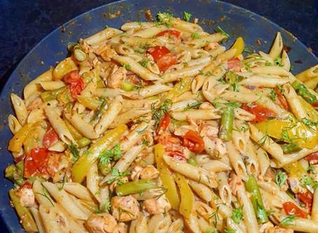 creamy salmon charbell pasta