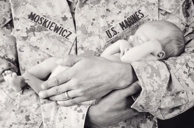 Losing a child when you're enlisted by Michelle Moskiewicz USMC veteran