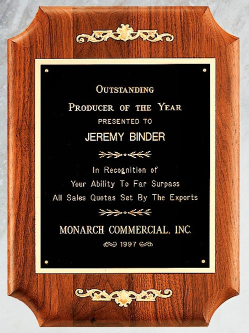 P2476 Accented Solid Walnut Plaque