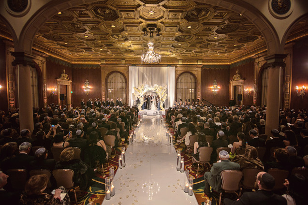 winter wedding at the millenium biltmore hotel los angeles by los angeles wedding photographer 23