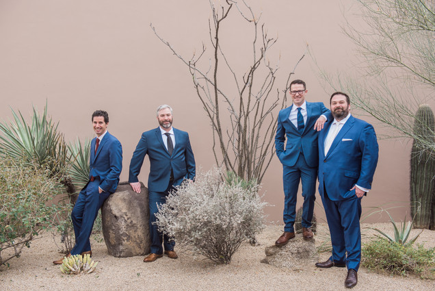 Groomsmen at the Four Seasons Scottsdale Arizona