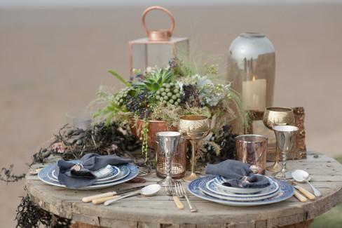 uk nautical romantic Cheshire fine art wedding photography table decor