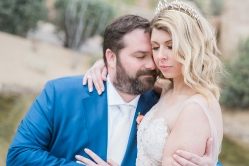 bride and groom at their wedding Four seasons Scottsdale