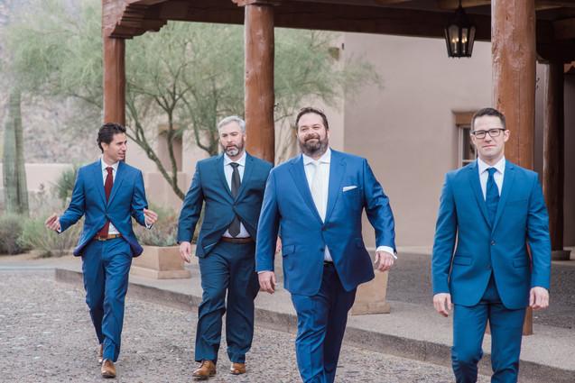 groom and groomsmen, fourseasons, scottsdale Arizona