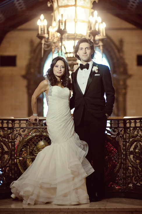 winter wedding at the millenium biltmore hotel los angeles by los angeles wedding photographer 17