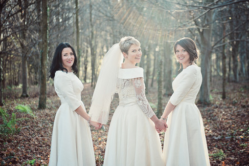 winter wedding in the english countryside by uk wedding  Claire Barrett 16