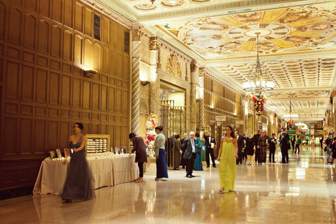 winter wedding at the millenium biltmore hotel los angeles by los angeles wedding photographer 27