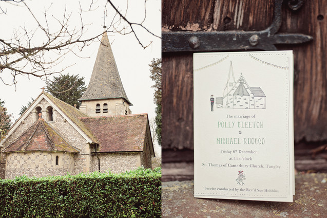 winter wedding in the english countryside by uk wedding  Claire Barrett 1