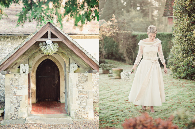 winter wedding in the english countryside by uk wedding  Claire Barrett 12