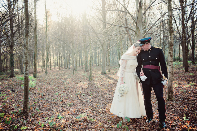 winter wedding in the english countryside by uk wedding  Claire Barrett 25
