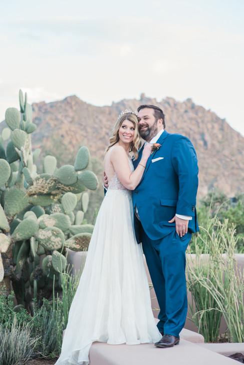 Bride and Groom Four seasons Scottsdale Arizona
