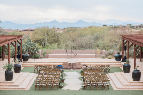ceremony site at four seasons hotel, Scottsdale, Arizona