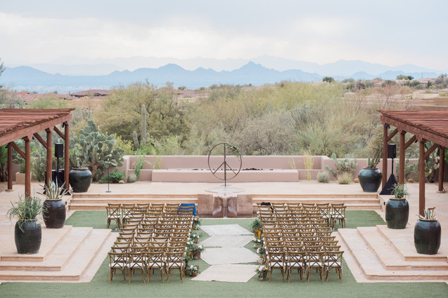 ceremony site at four seasons hotel, Scottsdale, Arizona