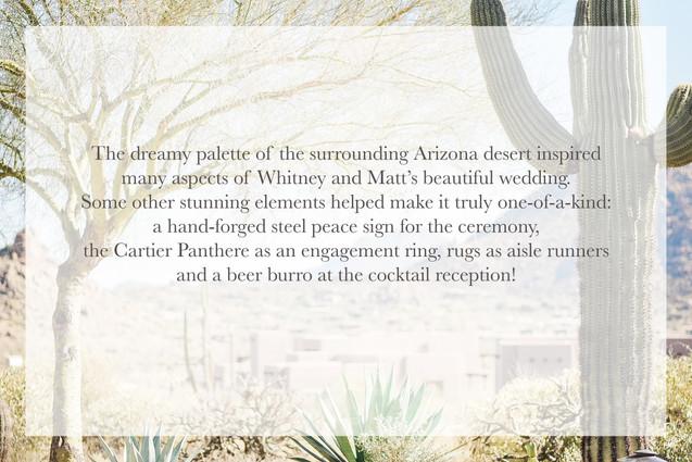 Beautiful description of Arizona wedding
