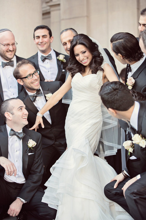 winter wedding at the millenium biltmore hotel los angeles by los angeles wedding photographer 24