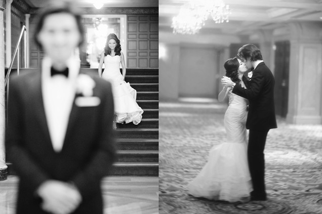 winter wedding at the millenium biltmore hotel los angeles by los angeles wedding photographer 16