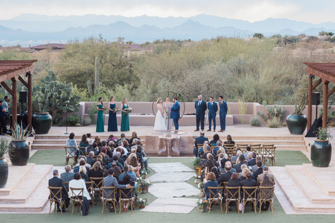 wedding ceremony at Four Seasons, Scottsdale Arizona