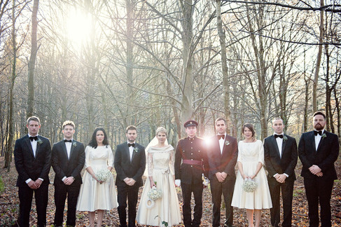 winter wedding in the english countryside by uk wedding  Claire Barrett 28