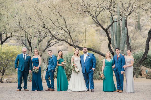 wedding party Arizona