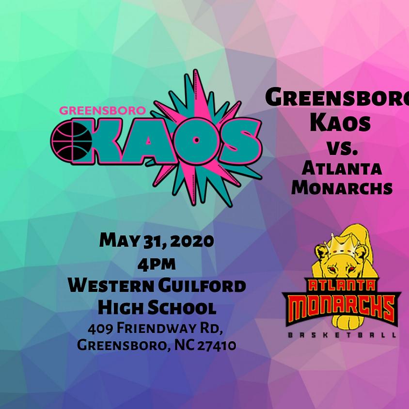 Game Day Greensboro Kaos vs. Atlanta Monarchs