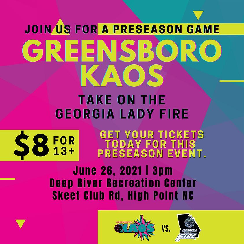 Kaos vs Lady Fire Preseason Game