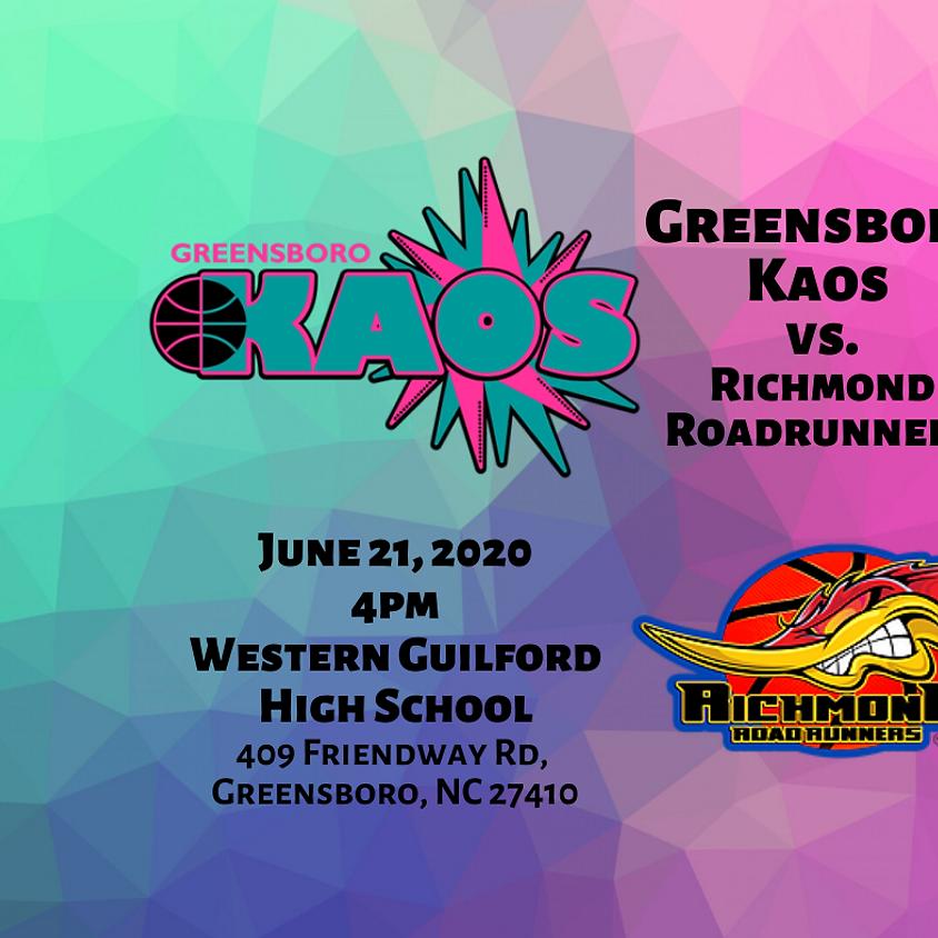 Game Day Greensboro Kaos vs. Richmond Roadrunners