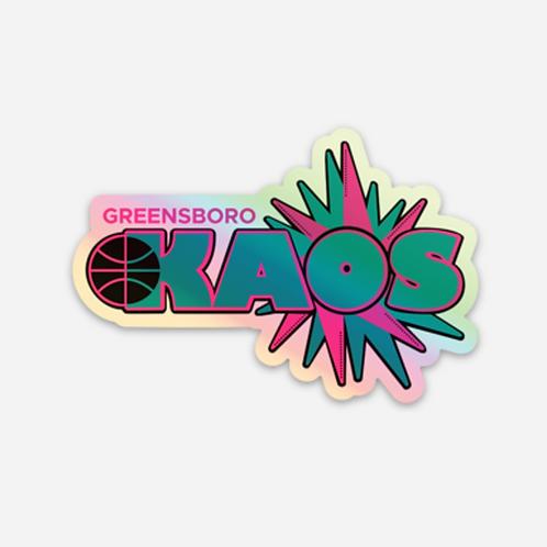 Greensboro Kaos Holographic Sticker