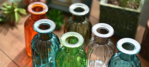 簡約豎條彩色小花瓶