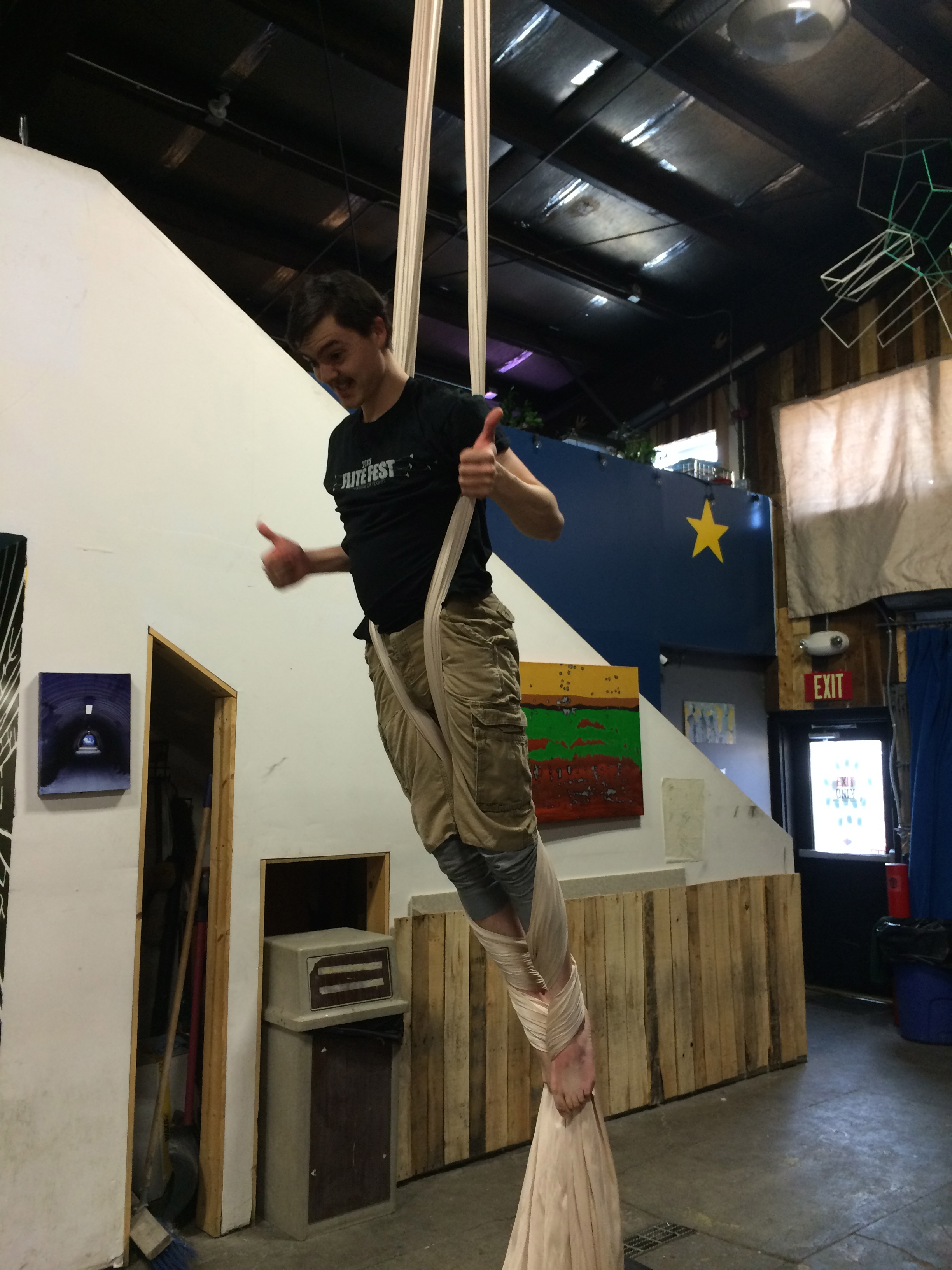 aerial class is fun!