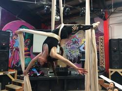 Inverted lady splits
