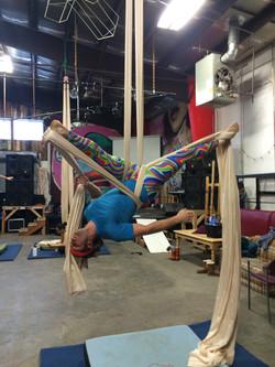 Inverted man splits!