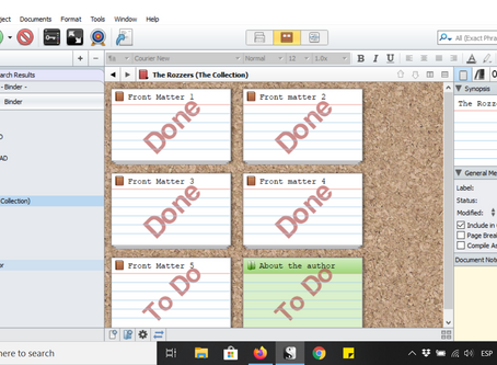 How to organise multiple short stories (or books) into one large book in Scrivener.