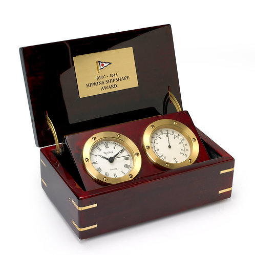 Double Jed Compass & Clock