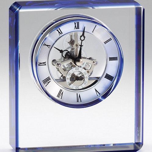 Crystal Blue Trim Clock