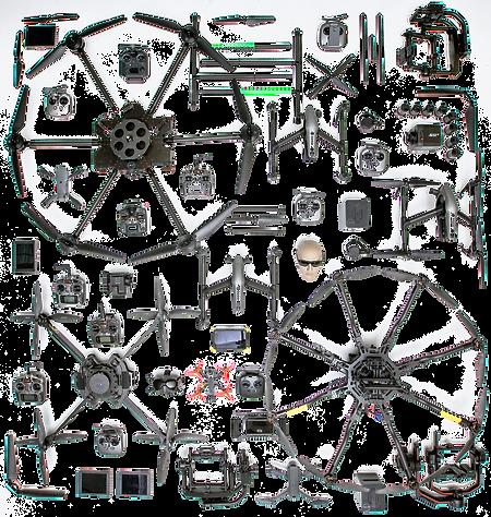 Assortment of Drones & Drone Equipment