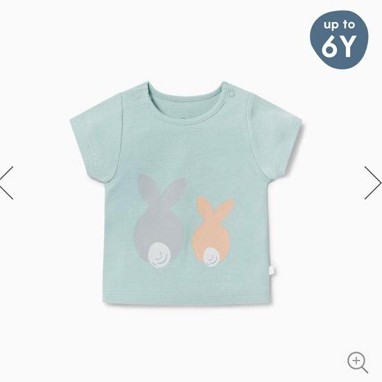 Mori Bunny Print T-shirt