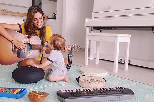ארבעה מפגשים בקבוצת אם.תינוק.מוזיקה
