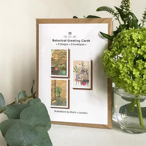 I'm the 3rd set of Botanical Greeting Cards