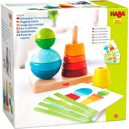 Pegging Game Fun with Shapes (Haba305404)