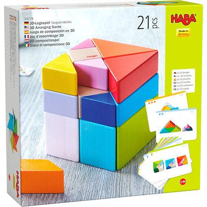 3D Arranging Game Tangram Cube (Haba 305778)