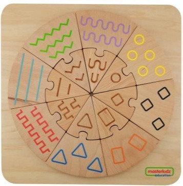 Tactile and Visual Matching Blocks (Masterkidz ME10025)