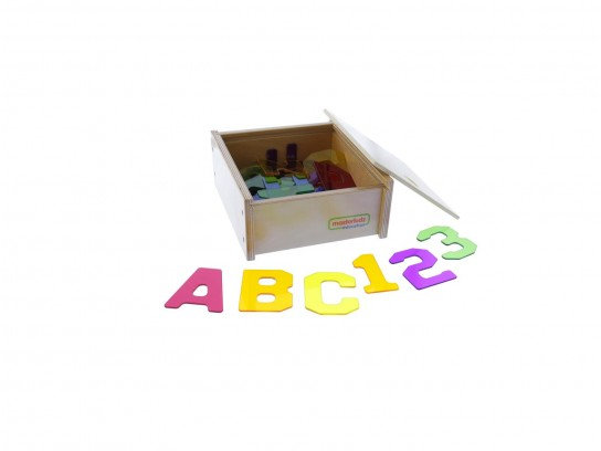38 Pieces Translucent Numbers and Alphabets Set (Masterkidz ME07308) 3y+