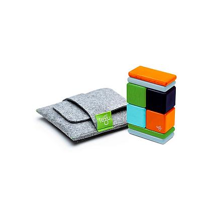 Pocket Pouch Magnetic Wooden Blocks 8 pieces (Tegu)