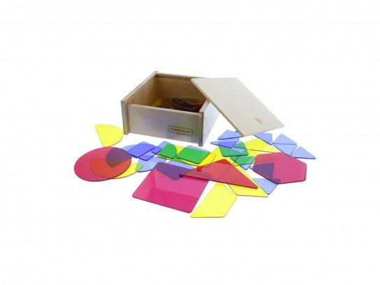51 Pieces Translucent Geometric Shapes Set (Masterkidz ME08602) 3y+