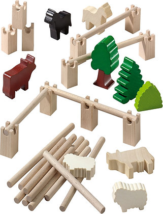 Fences, Trees, Animals Building Blocks (Haba 3517)