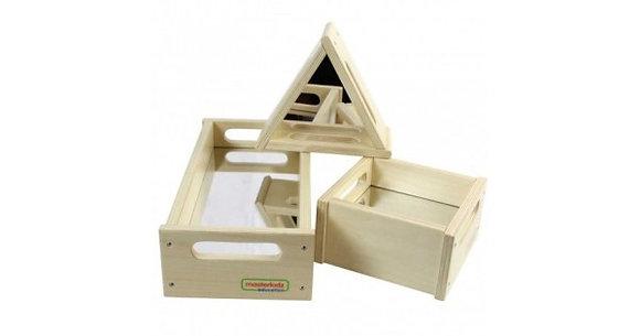 3 Piece Mirror Tray Blocks Set (Masterkidz ME03959) 3y+